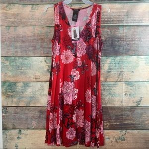 Premise Sz S Red Floral Dress NWT